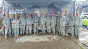 Maj. Gen. Ronald Dziedzicki met with members of the Army Reserve Marksmanship Program during the Pistol Nationals at Camp Perry.